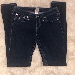 True Religion Jeans - True Religion Embellished Pocket  Skinny Jeans 27